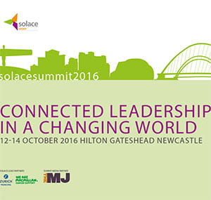 "Solace Summit 2016 – ""Connected Leadership in a Changing World"" 12 – 14 October 2016."