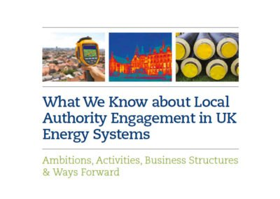 Local authority engagement with UK energy systems
