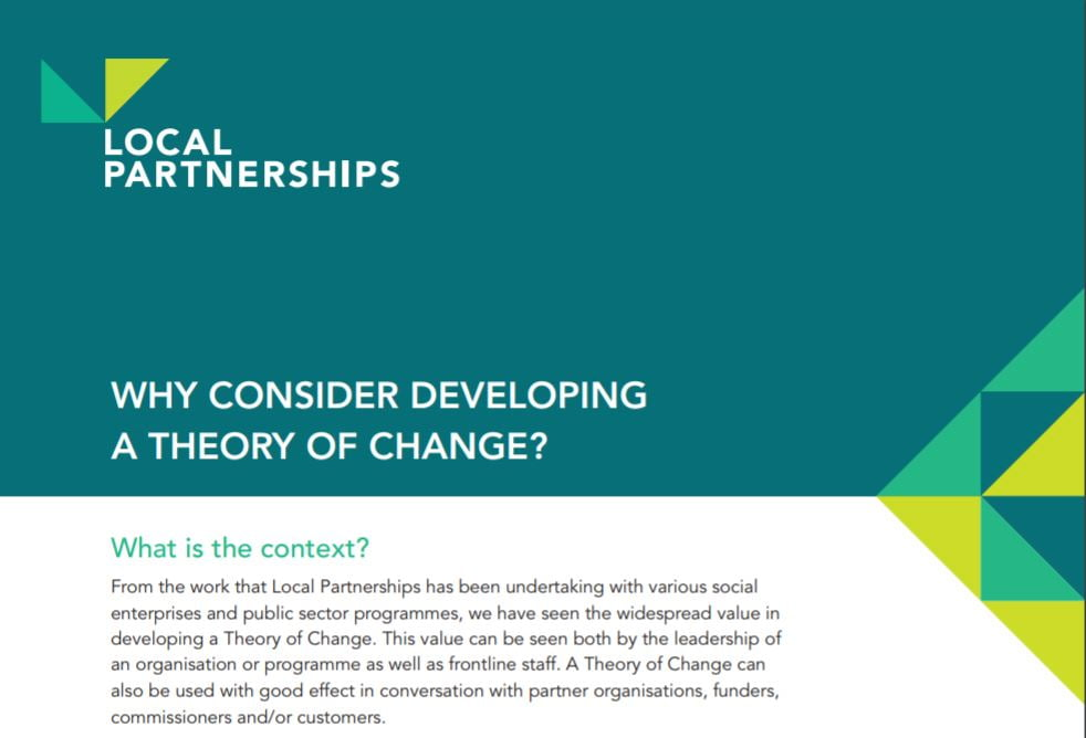 Why consider developing a theory of change?