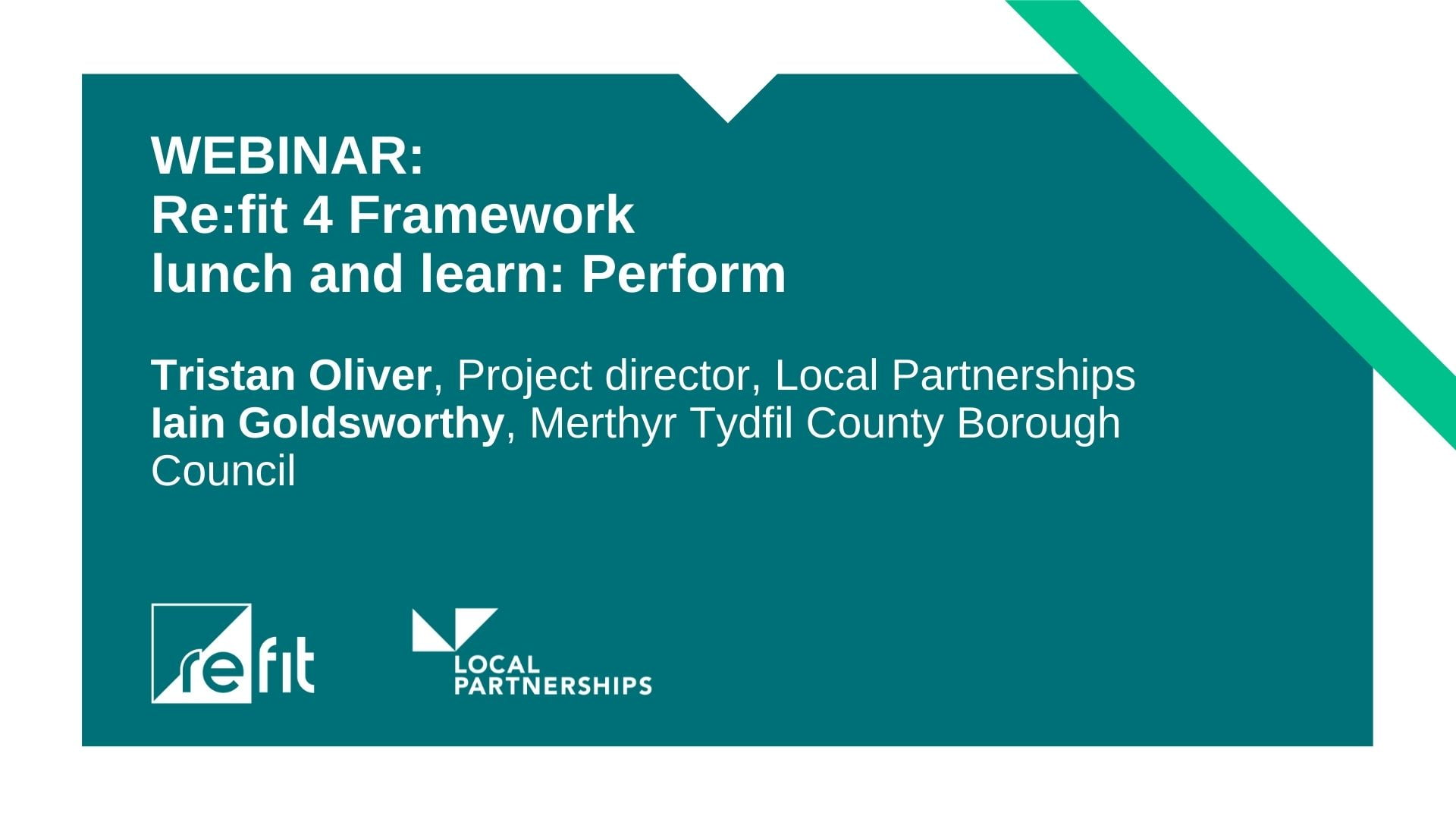 WEBINAR: Re:fit lunch and learn: Perform