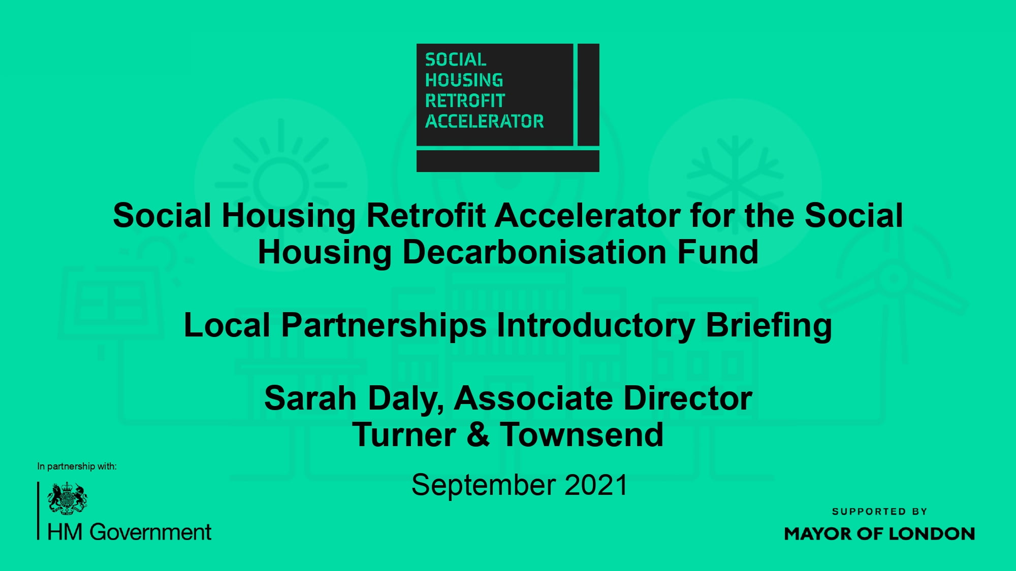 WEBINAR: Social Housing Decarbonisation Fund with Turner & Townsend