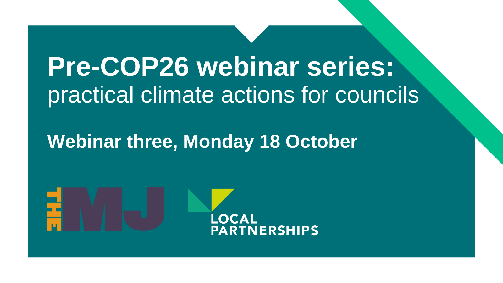 Action on climate crisis webinar three: The MJ and Local Partnerships